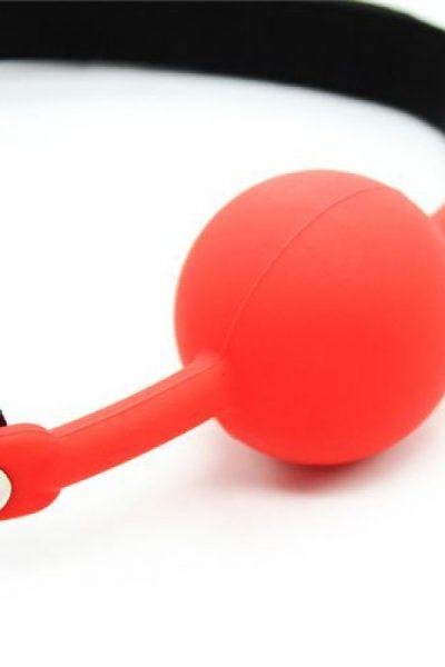 Ball Gag + Block (czerwony)