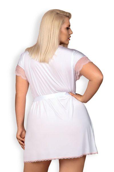 Bielizna-Girlly peniuar biały XXL