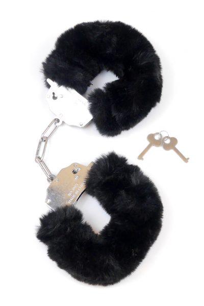 Kajdanki Fetish Boss Series- Furry Cuffs Black