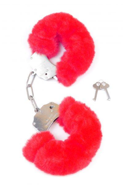 Kajdanki Fetish Boss Series- Furry Cuffs Red