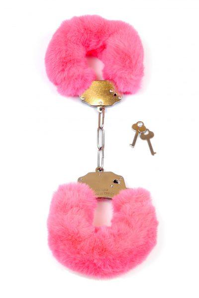 Kajdanki Fetish Boss Series- Furry Cuffs Pink