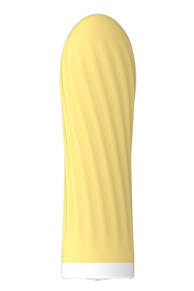 Stymulator-Rechargeable Silicone Touch Vibrator USB 10 Functions – Yellow