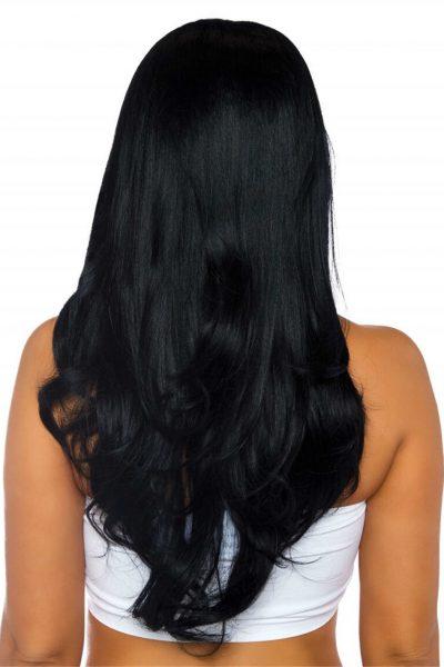 Leg Avenue Długa falowana peruka czarna